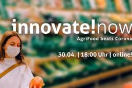 Flyer der Online-Konferenz innovate!now.