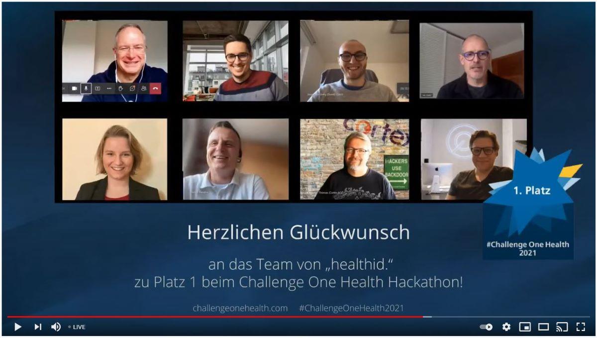 Das Siegerteam des One Health Hackathons 2021